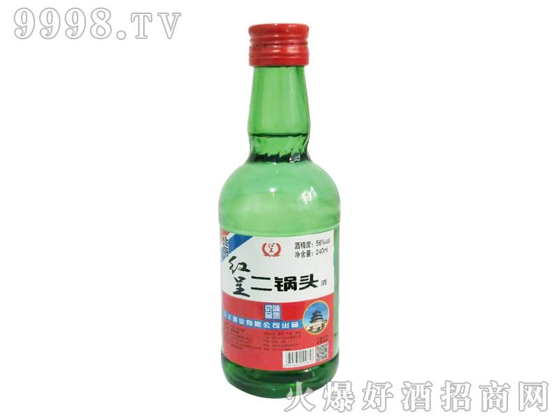 北京红呈二锅头酒56度240ml