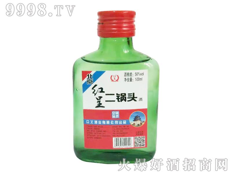 北京红呈二锅头酒56度100ml