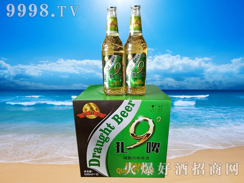 爱雷岛9°扎啤500ml×12瓶