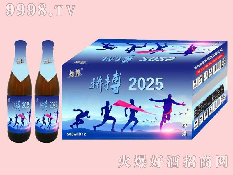拼搏2025啤酒500ml×12瓶装