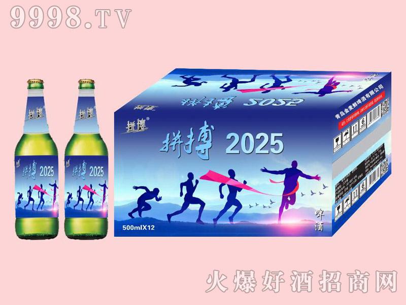 拼搏2025啤酒500ml×12绿瓶