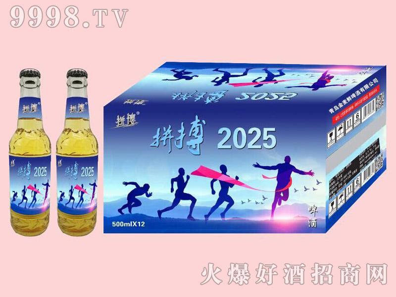 拼搏2025啤酒500ml×12白瓶