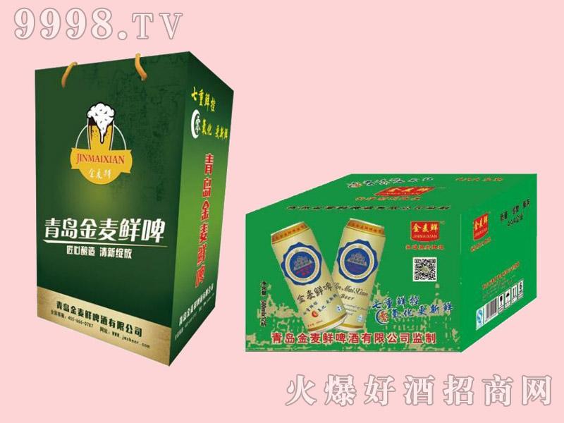 金麦鲜啤酒绿礼盒500ml×12罐