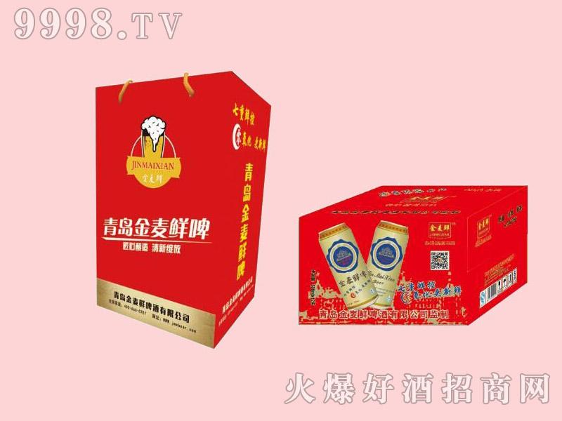 金麦鲜啤酒红礼盒500ml×12罐