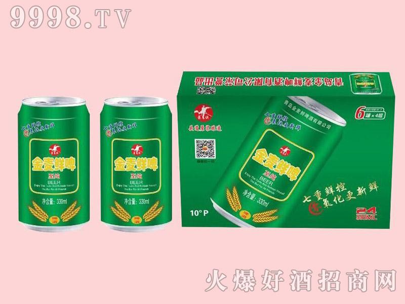 金麦鲜至纯啤酒10度330ml×24瓶