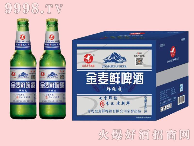 金麦鲜鲜纯爽啤酒500ml×12瓶