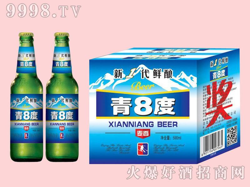 金麦鲜青八度啤酒500ml×12瓶