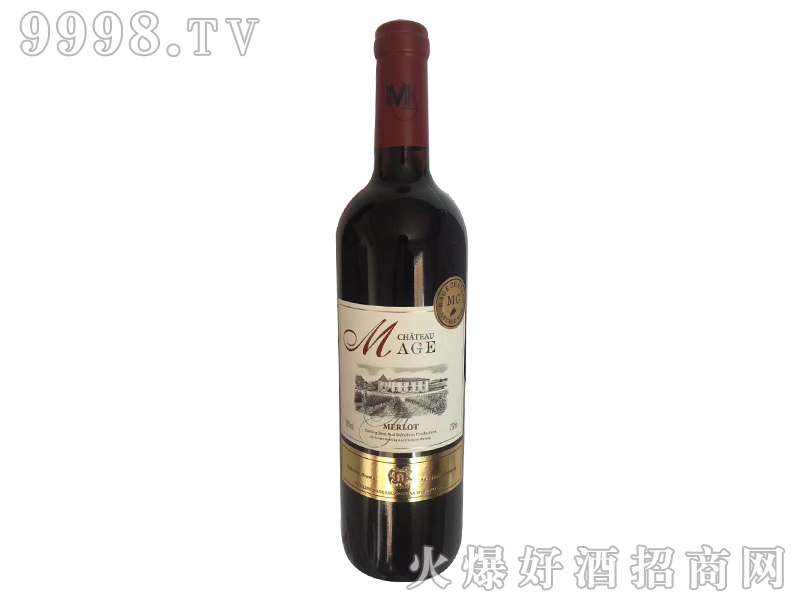 法国依托堡美乐干红葡萄酒