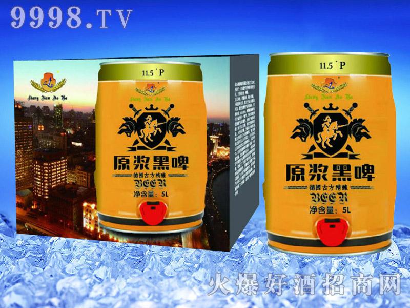 亮剑啤酒桶装啤酒原浆黑啤5L-罐装