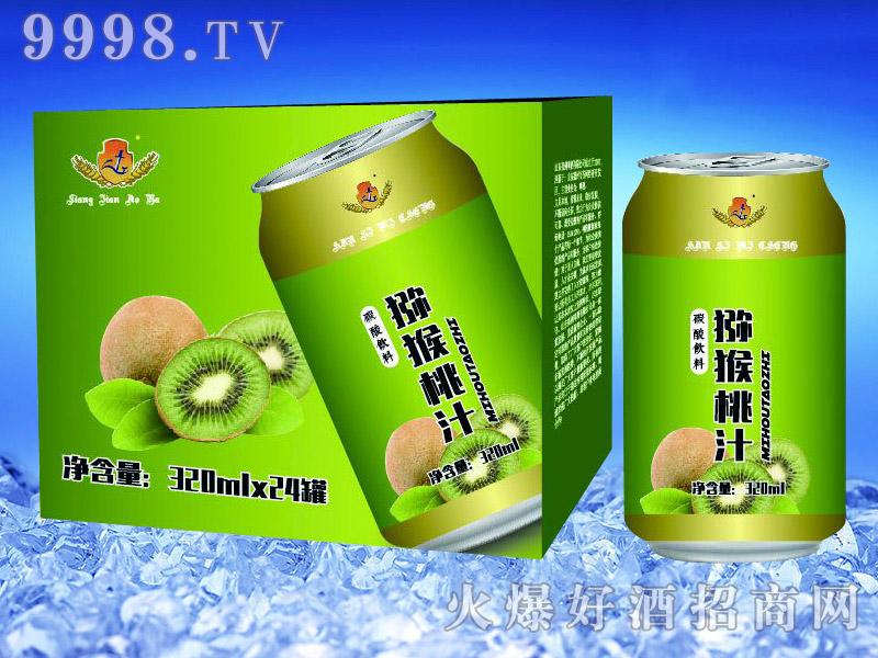 亮剑啤酒罐装猕猴桃汁果啤320ml×24