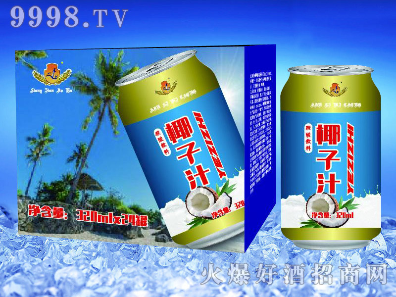 亮剑啤酒罐装椰子汁果啤320ml×24罐