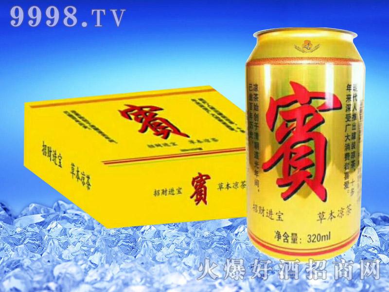 亮剑啤酒罐装宝凉茶320ml