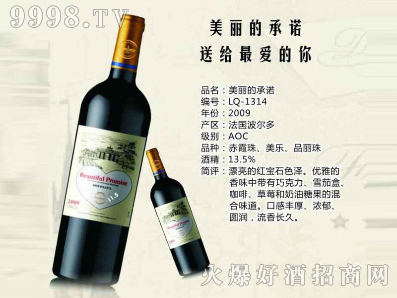 法国波尔多美丽的承诺干红葡萄酒2009-红酒招商信息