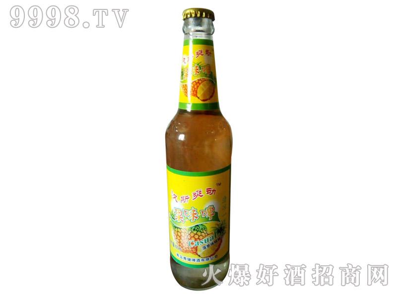 汉斯爽动果味啤菠萝味碳酸饮料