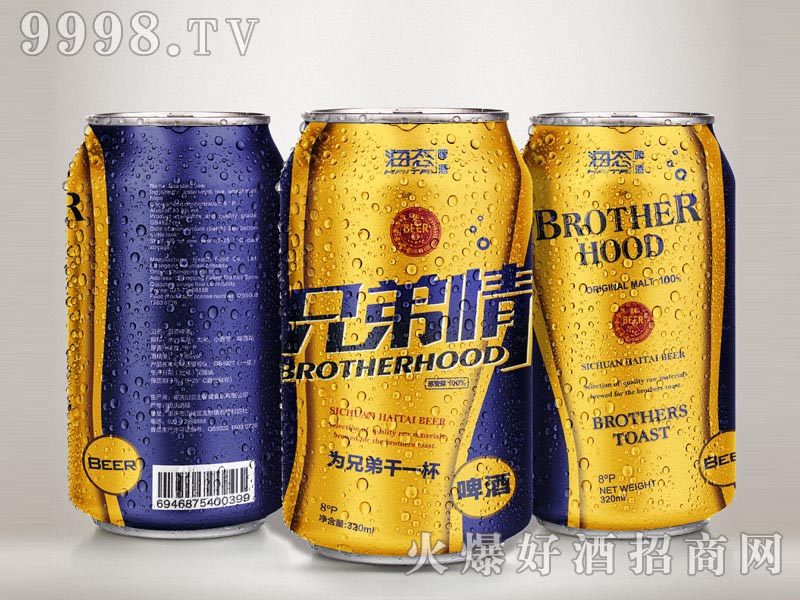 海态金典兄弟情啤酒500mlX12