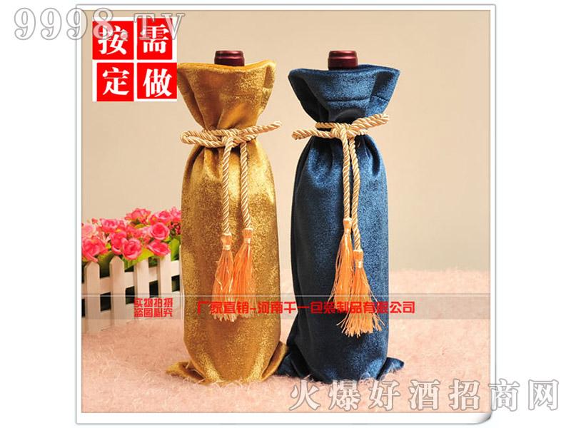 绒布礼品酒袋系绳装饰