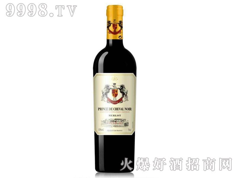 法国黑马王子美乐干红葡萄酒