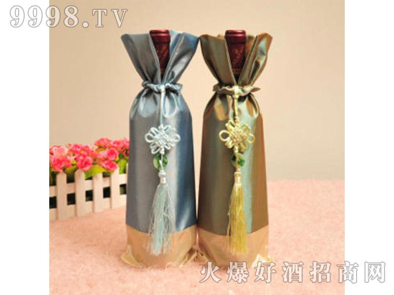 红酒外包装布袋中国结挂饰