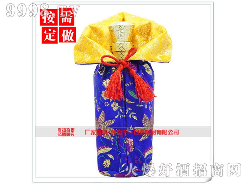 创意金丝酒包装抽绳织锦袋