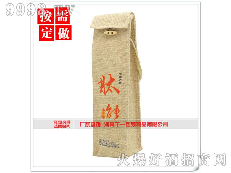 中国泸州肽能酒手提麻布袋