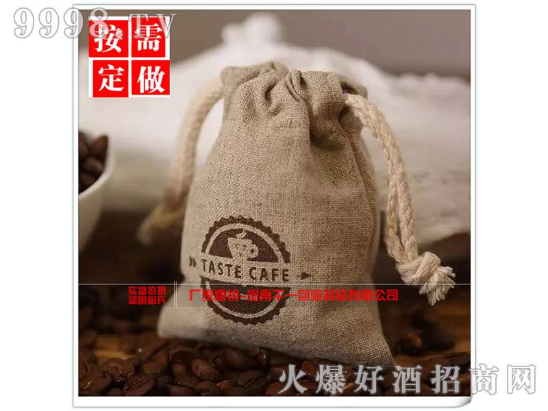 创意麻布抽绳束口咖啡袋