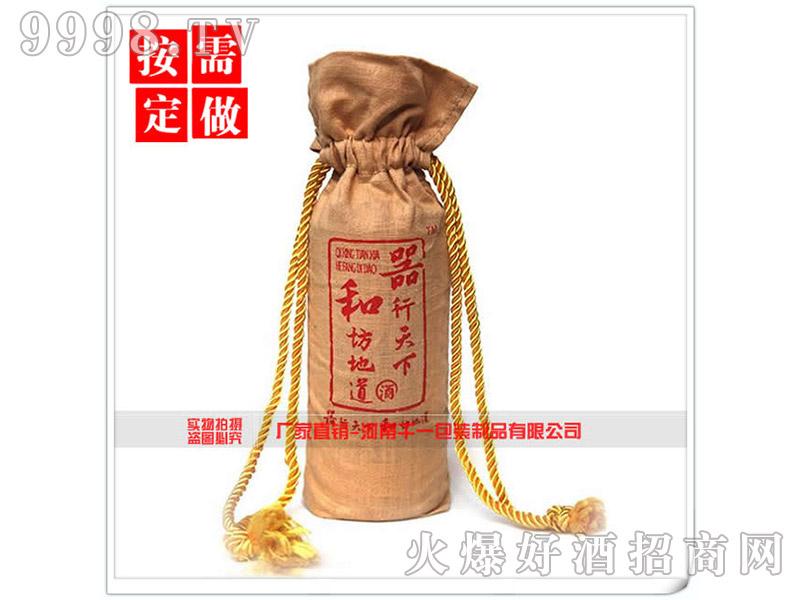 抽绳麻布酒袋礼品袋-机械包装信息