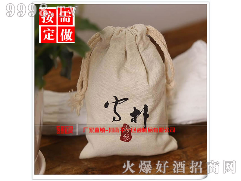 优质抽绳束口帆布袋-机械包装信息