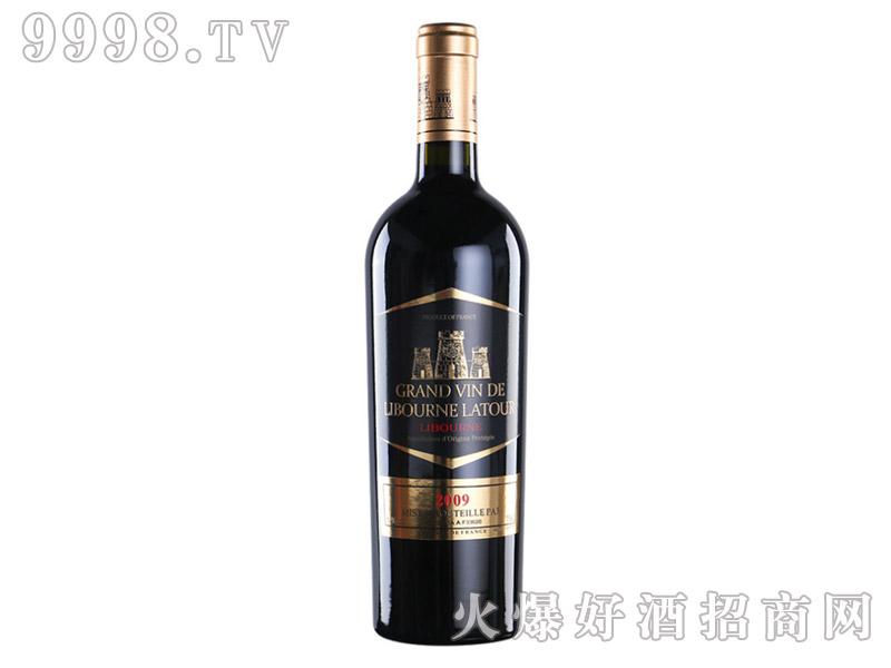 法国利布尔纳拉图酒庄黑标金头干红葡萄酒