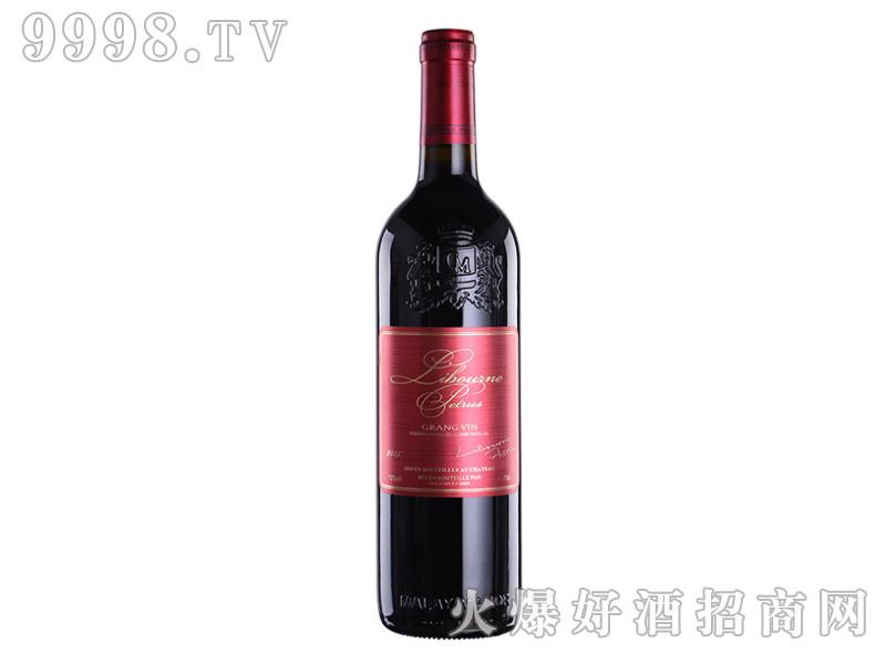 法国柏翠干红葡萄酒AOP利布尔纳红750ML