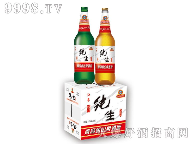 崂山泉纯生红尊千赢国际手机版500ml 1X12