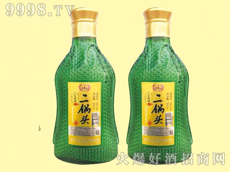 京虹门二锅头酒绿瓶38度350ml
