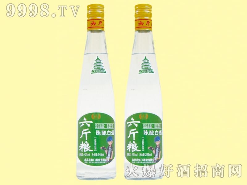 京虹门六斤粮陈酿白酒42度245ml