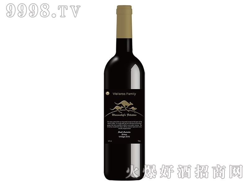 大袋鼠和小袋鼠西拉干红葡萄酒