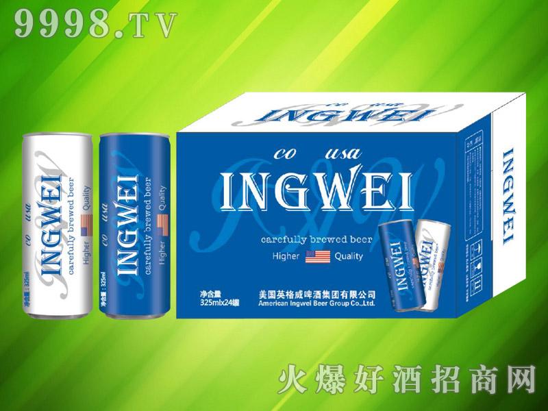 美国英格威精酿啤酒325ml×24罐(蓝)