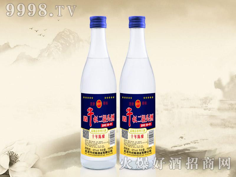 鑫牛栏二锅头酒陈酿10 42°500ml