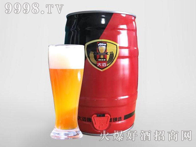 大迈白啤酒5L