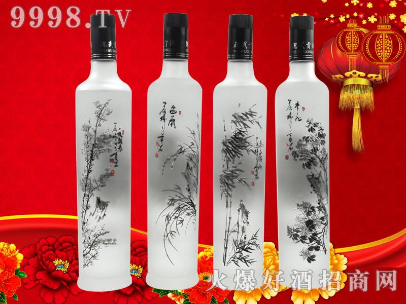 魏武贡酒梅兰竹菊(磨砂瓶)