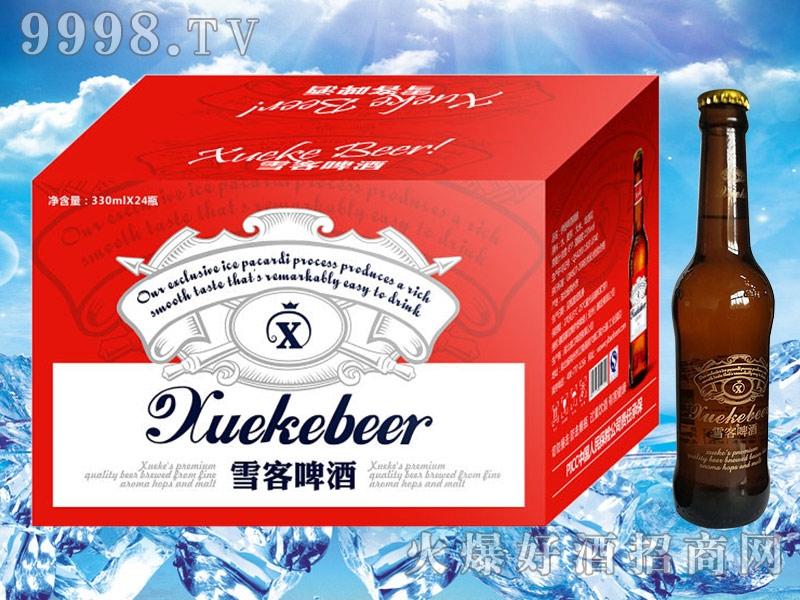 雪客啤酒(红箱)330mlx24瓶