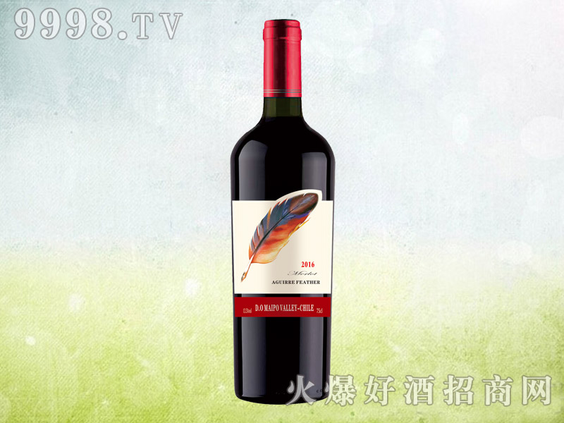 新款红羽毛干红葡萄酒