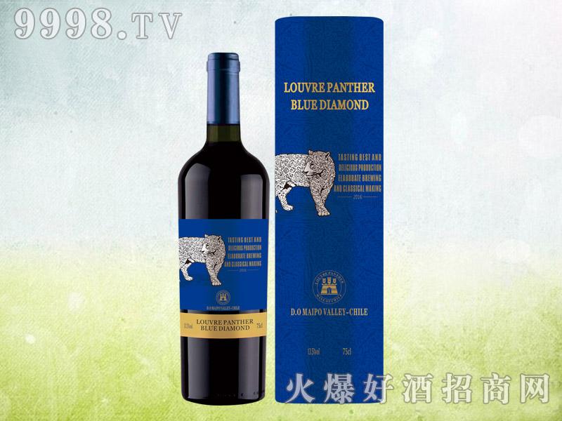 新款豹子蓝圆通干红葡萄酒