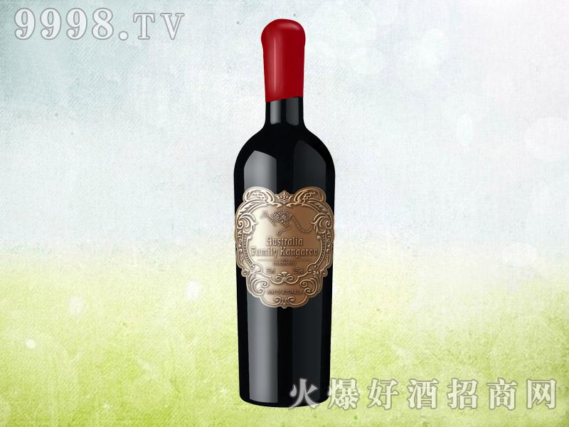 澳族袋鼠干红葡萄酒(金属标)