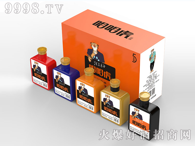 哈哈虎酒100mlx5瓶礼盒装42度纯粮食高粱酒