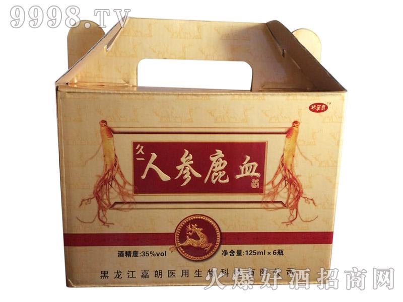 人参鹿血酒35°(盒)