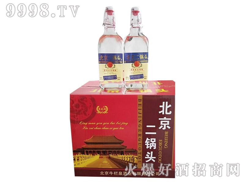 牛栏泉方瓶提环一斤二锅头酒(彩箱)
