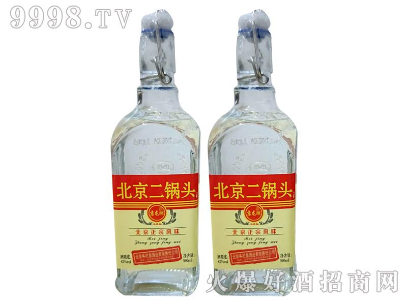 牛栏泉方瓶提环普标二锅头酒42度500ml×12瓶