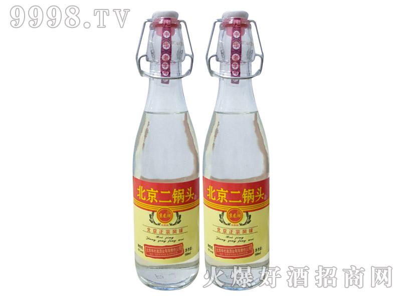 牛栏泉圆瓶提环二锅头酒42度500ml×12瓶