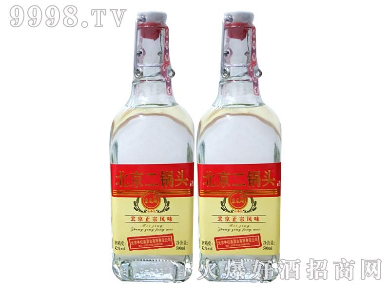 牛栏泉方瓶提环烫金红标二锅头酒42度500ml×12瓶