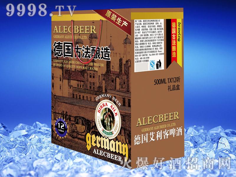 德国艾利客啤酒礼盒500ml×12听(古法酿造)