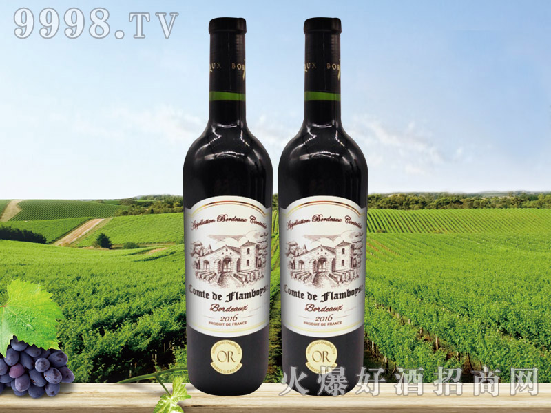 法国芙博西伯爵酒庄波尔多干红葡萄酒