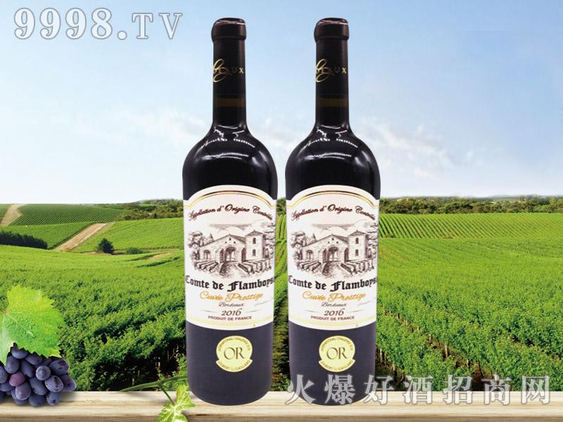 法国芙博西伯爵酒庄波尔多高级干红葡萄酒